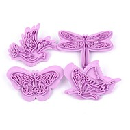 billige Bakeredskap-Bakeware verktøy Plast 3D / Bursdag / Høsttakkefest Til Småkake / For Småkake / Til Kake Bake & Mørdeigs Verktøy / Kakekuttere 4stk