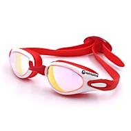 billiga Swim Goggles-Simglasögon Simglasögon Vattentät Solskydd Silikon Polykarbonat Röd Rosa Svart Mörkblå Röd Rosa Svart Blå Mörkblå