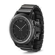 billiga Smart klocka Tillbehör-Klockarmband för Fenix 3 Garmin Klassiskt spänne Rostfritt stål Handledsrem