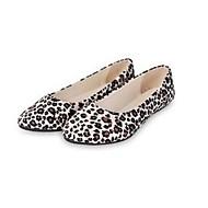 abordables Chaussures Plates pour Femme-Femme Chaussures Toile Printemps / Eté Confort Ballerines Talon Plat Bout pointu Jaune Clair / Ivoire