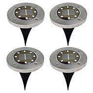 baratos Luzes do caminho-BRELONG® 4pçs 5W Luzes do gramado Solar Impermeável Controle de luz Iluminação Externa Branco Quente Branco 1.5V