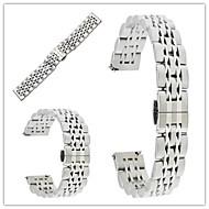 billiga Smart klocka Tillbehör-Klockarmband för Gear S3 Frontier Gear S3 Classic Samsung Galaxy fjäril spänne Metall Rostfritt stål Handledsrem