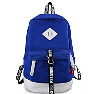 cheap Intermediate School Bags-Unisex Bags Backpack Buttons / Zipper Character Royal Blue