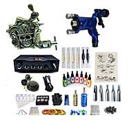 baratos Kits de Tatuagem para Iniciantes-Máquina de tatuagem Conjunto de Principiante - 1 pcs máquinas de tatuagem com 7 x 15 ml tintas de tatuagem, Velocidades variáveis, Profissional, Ajustável LCD de alimentação No case 1xMáquina