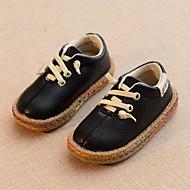 baratos Sapatos de Menina-Para Meninos / Para Meninas Sapatos Couro Ecológico Primavera / Outono Conforto Oxfords para Branco / Preto / Amarelo