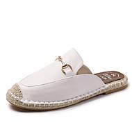 achats Mujer Zapatos Cuero de Napa Primavera verano Confort Zuecos y pantuflas Tacón Plano Punta cerrada Blanco / Negro / Wine La Vente En Ligne h6a5GXl