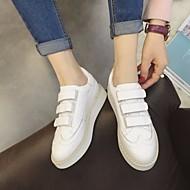 Žene Cipele Koža Proljeće Jesen Udobne cipele Sneakers Ravna potpetica Okrugli Toe za Kauzalni Obala Crn