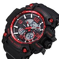SHIFENMEI Homens Digital Relógio Esportivo Japanês Calendário Mostrador Grande Relógio Casual Plastic Banda Luxo Fashion Preta