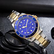 baratos -Homens Quartzo Relógio de Pulso Calendário Noctilucente Aço Inoxidável Banda Luxo Casual Fashion Prata