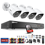 cheap -ANNKE® 8CH 3M HD Security System DVR Kits with 1TB Hard Drive 4pcs IP Cameras