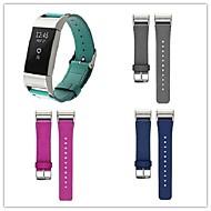 billiga Smart klocka Tillbehör-Klockarmband för Fitbit Charge 2 Fitbit Läderloop Metall Läder Handledsrem