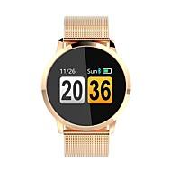 Q8 Feminino Relógio inteligente Android iOS Bluetooth Monitor de Batimento Cardíaco Controle de APP Calorias Queimadas Tora de Exercicio Aviso de Chamada Podômetro Aviso de Chamada Monitor de Sono