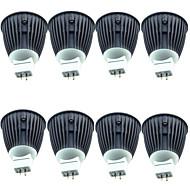 billige Spotlys med LED-8pcs 4.5W 600lm MR16 LED-spotpærer 1 LED perler COB Varm hvit 12V