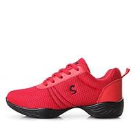 baratos Sapatilhas de Dança-Mulheres Tênis de Dança Malha Respirável Têni Salto Baixo Personalizável Sapatos de Dança Branco / Preto / Vermelho / Ensaio / Prática