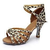 baratos Sapatilhas de Dança-Mulheres Sapatos de Dança Latina Cetim / Courino Sandália / Salto Recortes Salto Personalizado Personalizável Sapatos de Dança Azul /