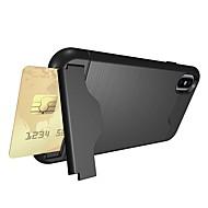 billiga Mobil cases & Skärmskydd-fodral Till Apple iPhone X iPhone 8 Korthållare Stötsäker med stativ Skal Rustning Mjukt TPU för iPhone X iPhone 8 Plus iPhone 8 iPhone 7