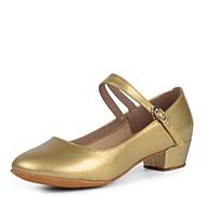 billige Moderne sko-Dame Moderne sko Kunstlær Høye hæler Kubansk hæl Kan spesialtilpasses Dansesko Svart / Sølv / Rød / Innendørs
