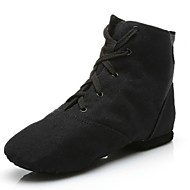 billige Kustomiserte dansesko-Herre Jazz-sko Lerret Flate / Joggesko Tvinning Flat hæl Kan spesialtilpasses Dansesko Svart / Innendørs