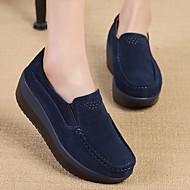 Mujer Zapatos Cuero de Napa Verano Confort Oxfords Media plataforma Gris / Rojo / Verde Acheter Pas Cher Profiter rgLJvCgx