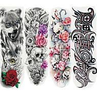 billiga Temporära tatueringar-4pcs Klistermärke tecknad serie Tatueringsklistermärken