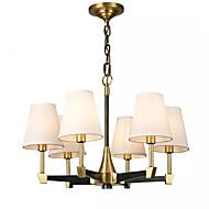 billige Takbelysning og vifter-QIHengZhaoMing 6-Light Candle-stil Lysekroner Omgivelseslys galvanisert Metall Stof 110-120V / 220-240V Varm Hvit Pære Inkludert