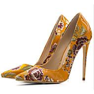 abordables Talons pour Femme-Femme Chaussures Soie Printemps / Automne Confort / Escarpin Basique Chaussures à Talons Talon Aiguille Noir / Jaune / Bleu