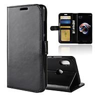 billiga Mobil cases & Skärmskydd-fodral Till Xiaomi Redmi Note 5 Pro / Redmi 5 Plus Plånbok / Korthållare / med stativ Fodral Enfärgad Hårt PU läder för Redmi Note 5A / Xiaomi Redmi Note 4X / Redmi 5A / Xiaomi Mi 6