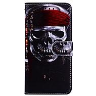 billiga Mobil cases & Skärmskydd-fodral Till Huawei P10 Lite P9 Lite Korthållare Plånbok med stativ Lucka Mönster Fodral Dödskalle Hårt PU läder för P10 Lite Huawei P9