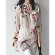 Dame-Blomstret Gade Skjorte