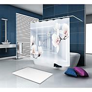 Χαμηλού Κόστους hometextiles μπάνιο-Κουρτίνες μπάνιου & γάντζοι Καθημερινό Μοντέρνα Πολυεστέρας Νεωτερισμός Μηχανοποίητο Αδιάβροχη Μπάνιο