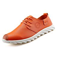 お買い得  メンズオックスフォードシューズ-男性用 靴 PUレザー 春 / 秋 コンフォートシューズ オックスフォードシューズ ホワイト / ブラック / オレンジ