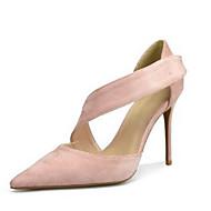 בגדי ריקוד נשים נעליים בד קיץ בלרינה בייסיק עקבים עקב סטילטו בוהן מחודדת שחור / אדום / עירום / מסיבה וערב