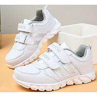 baratos Sapatos de Menina-Para Meninos / Para Meninas Sapatos Couro Ecológico Primavera Conforto Tênis para Branco / Rosa e Branco / Branco / Prata