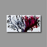 저렴한 -항으로 그린 유화 손으로 그린 - 추상적인 콘템포라리 내부 프레임 포함 / 뻗어있는 캔버스
