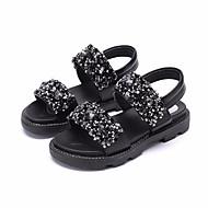 baratos Sapatos de Menina-Para Meninas Sapatos Courino Verão Sapatos para Daminhas de Honra Sandálias para Infantil Branco / Preto / Rosa claro
