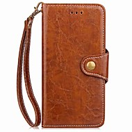 billiga Mobil cases & Skärmskydd-fodral Till Xiaomi Redmi 5 Redmi 5 Plus Korthållare Plånbok med stativ Lucka Magnet Fodral Enfärgad Hårt PU läder för Xiaomi Redmi Note