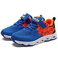 baratos Sapatos de Menino-Para Meninos Sapatos Tule Primavera / Outono Conforto Tênis Caminhada Velcro para Adolescente Preto / Azul Real