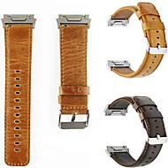 billiga Smart klocka Tillbehör-Klockarmband för Fitbit ionic Fitbit Klassiskt spänne Äkta Läder Handledsrem