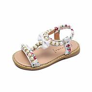 Para Meninas sapatos Courino Verão Conforto Sandálias para Casual Branco Preto Rosa claro