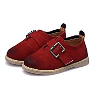 cheap Baby Shoes-Boys' Shoes Leather Spring / Fall First Walkers Flats for Baby / Toddler Wine / Dark Green