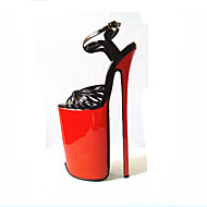 baratos Sapatos Femininos-Mulheres Sapatos Couro Ecológico Verão Plataforma Básica Saltos Salto Agulha Dedo Aberto Dourado / Preto / Festas & Noite