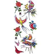 Vandtæt / Tattoo Sticker Krop / arm / skulder Midlertidige Tatoveringer 1 pcs Dyre Serier / Blomster Serier Kropskunst