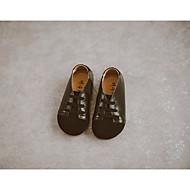 baratos Sapatos de Menino-Para Meninos / Para Meninas Sapatos Pele Nobuck Primavera / Outono Conforto Oxfords para Preto / Marron / Rosa claro