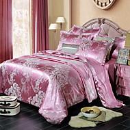billige Luksuriøse dynetrekk-Sengesett Blomstret Polyester / Bomull 100% bomull Reaktivt Trykk 4 deler
