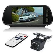 billiga Parkeringskamera för bil-ZIQIAO 7 tum LCD CCD Kabel 170 grader Car Reversing Monitor Vattentät / LCD-skärm / Multifunktionell display för Bilar