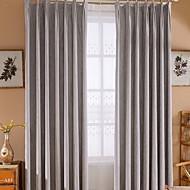 billige Gardiner-gardiner gardiner Stue Ensfarget / Moderne Bomull / Polyester Pigment Tryk