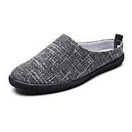 tanie Obuwie męskie-Męskie Buty Jeans Wiosna Jesień Comfort Mokasyny i pantofle na Casual Black Beige Brown Granatowy