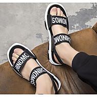 olcso -Férfi cipő Szintetikus Nyár Kényelmes Szandálok Fekete