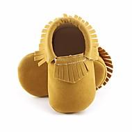 baratos Sapatos de Menino-Para Meninos / Para Meninas Sapatos Courino Primavera / Outono Primeiros Passos Rasos para Roxo / Amarelo / Rosa claro