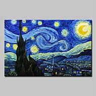 baratos -Pintura a Óleo Pintados à mão - Famoso Paisagem Tradicional Tela de pintura
